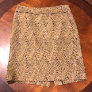 Carlisle Chevron Pencil Skirt Size 8